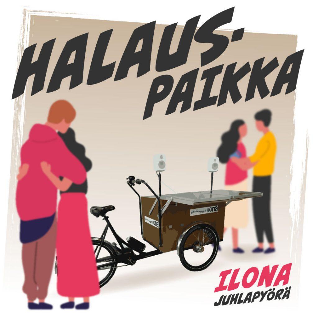 Ilona-juhlapyörän käyttö: halauspaikka