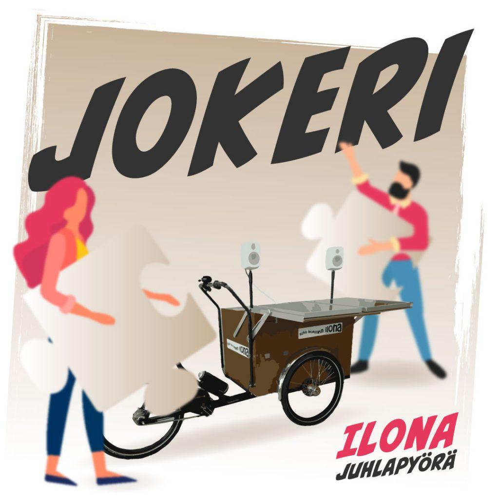 Ilona-juhlapyörän käyttö: jokeri.