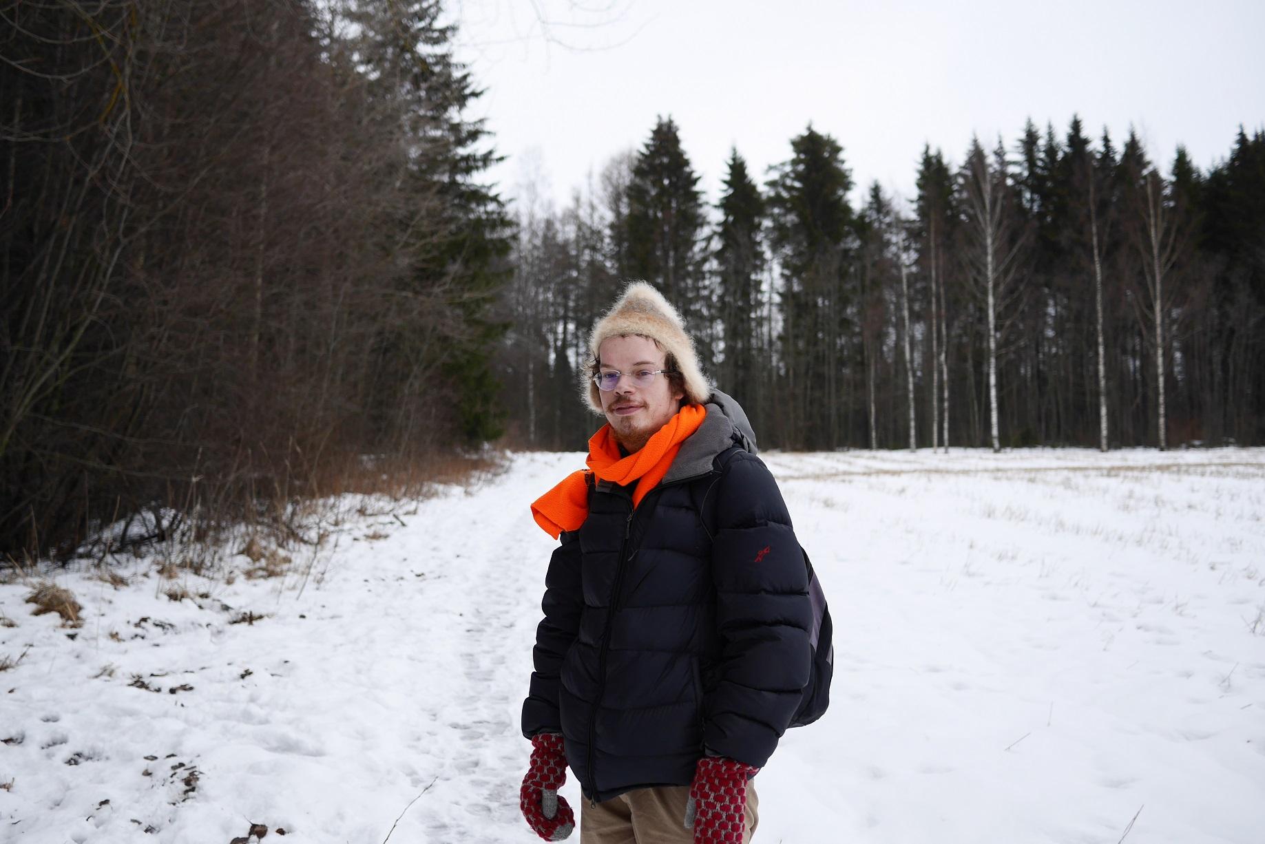 Martti talvisissa maisemissa